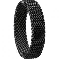 Damen-/Herrenring - BERING 551-60-X2 - Edelstahl IP schwarz, ohne Stein