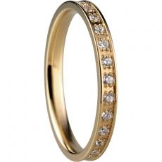 Damenring - BERING 556-27-X1 - Edelstahl Gelb vergoldet, Zirkonia