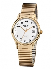 Herrenuhr - REGENT F873 - Quarz, Stahl IP Gold