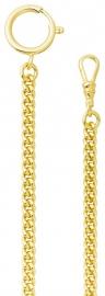 Uhrketten - REGENT P046 - Edelstahl Gelb vergoldet, Uhrkette