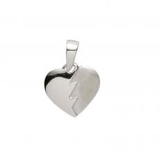 Anhänger - Gerry Eder 21.1145S - 925/- Silber, ohne Stein, Herz