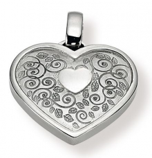 Anhänger - Gerry Eder 21.9037 - 925/- Silber, ohne Stein, Herz