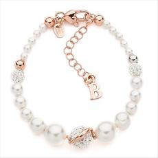 Perl-Armband - BOCCADAMO BR369RS - 925/- Silber Rosé vergoldet, Perle/Strass