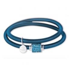 Armband - BOCCADAMO JKBR09 - Silikon/Baumwolle, Strass