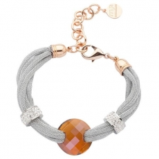 Armband - BOCCADAMO TSBR01 - Lamé/Bronze, Swarovski