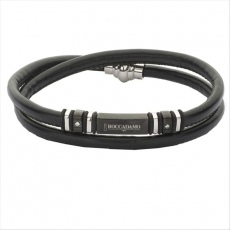 Armband - BOCCADAMO ABR148 - Leder, Zirkonia