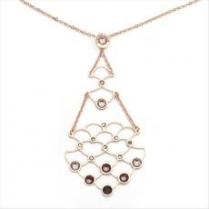 Collier - BOCCADAMO GR556RS - 925/- Silber Rosé vergoldet, Swarovski