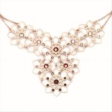 Collier - BOCCADAMO GR559RS - 925/- Silber Rosé vergoldet, Swarovski