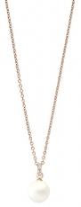 Kette mit Anhänger - silver trends ST1038 - 925/- Silber Rosé vergoldet, Kunstpe