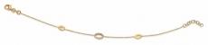 Armkette/Anker - Gerry Eder 41.ES1029 - 925/- Silber rhodiniert, Zirkonia