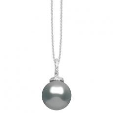 Kette mit Anhänger - silver trends ST985 - 925/- Silber, Zirkonia/Kunstperle