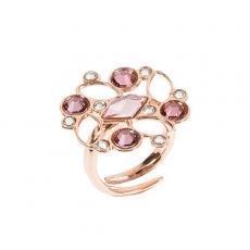 Damenring - BOCCADAMO XAN025RS - Bronze Rosé vergoldet, Swarovski