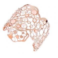 Armreif - BOCCADAMO XBR187RS - Bronze Rosé vergoldet, Swarovski Perle