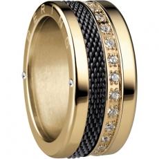 Damenring - BERING 520-20-X4_551-90-X1_556-27-X1 - Edelstahl Gelb vergoldet, Zir
