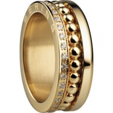 Damenring - BERING 599-3222-X3_552-20-X1 - Edelstahl Gelb vergoldet, Zirkonia