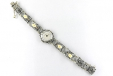 Damenuhr - Handaufzug, Silber