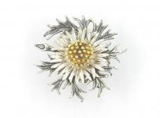 Broschen - 835 Silber, ohne Stein