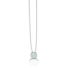 Kette mit Anhänger - silver trends ST1381 - 925/- Silber rhodiniert, Zirkonia