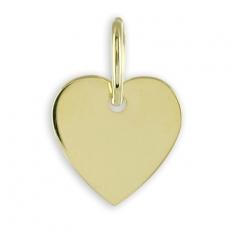 Anhänger - Kesef 1760 - 333/- Gelbgold, ohne Stein, Herz