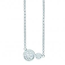 Collier - silver trends ST1482 - 925/- Silber rhodiniert, Zirkonia