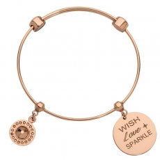 Bangle - Nikki Lissoni B1142RG17 - Edelstahl Rosé vergoldet