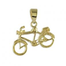 Anhänger - Kesef 2230 - 333/- Gelbgold, Fahrrad