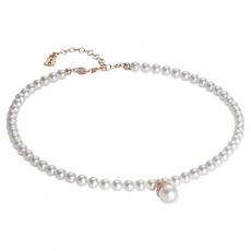 Collier - BOCCADAMO GR633RS - 925/- Silber Rosé vergoldet, Swarovski Perlen