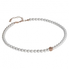 Collier - BOCCADAMO GR648RS - 925/- Silber Rosé vergoldet, Swarovski Perlen