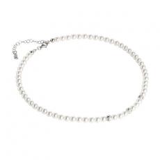 Collier - BOCCADAMO GR650 - 925/- Silber rhodiniert, Swarovski Perlen