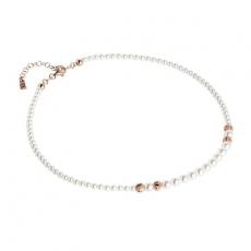Collier - BOCCADAMO GR652RS - 925/- Silber Rosé vergoldet, Swarovski Perlen
