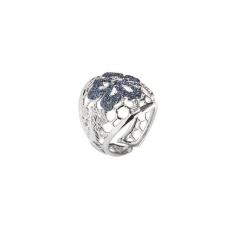 Damenring - BOCCADAMO XAN084 - 925/- Silber rhodiniert, Swarovski