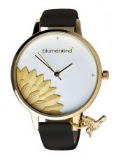 Damenuhr - blumenkind 13121989GWHPBK - Quarz, IP Gold