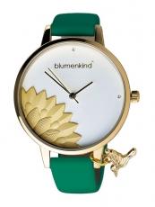 Damenuhr - blumenkind 13121989GWHPGN - Quarz, IP Gold