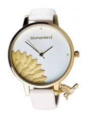 Damenuhr - blumenkind 13121989GWHPWH - Quarz, IP Gold