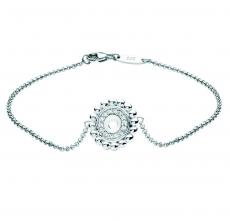 Kette mit Anhänger - silver trends ST1418 - 925/- Silber rhodiniert, Zirkonia