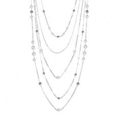 Collier - BOCCADAMO XGR305 - Bronze rhodiniert, Swarovski Perlen
