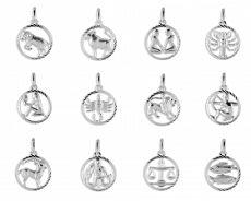 Anhänger - Kesef 6635 - 925 Sterling Silber, Sternzeichen