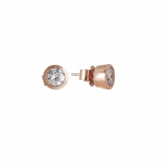 Ohrstecker - BOCCADAMO OR657RS - 925 Silber rhodiniert, Roségold