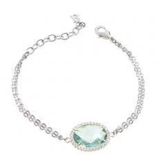 Armkette/Anker - BOCCADAMO XBR227V - 925 Silber rhodiniert, Kristall