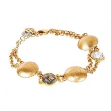 Armband - BOCCADAMO XBR807D - Bronze Gelb vergoldet, Kristall