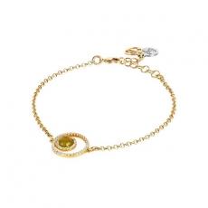 Armband - BOCCADAMO XBR809D - Bronze Gelb vergoldet, Kristall