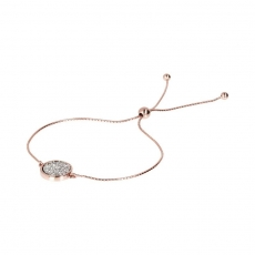 Armband - Bronzallure WSBZ01206WR - Bronze Rosé vergoldet, Zirkonia