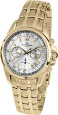 Herrenuhr - Jacques Lemans 1-1830H - Chronograph, Stahl IP Gold
