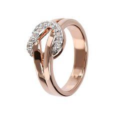 Damenring - Bronzallure WSBZ01451W-10 - Bronze Rosé vergoldet, Zirkonia