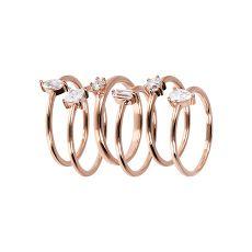 Damenring - Bronzallure WSBZ01801W-14 - Bronze Rosé vergoldet, Zirkonia