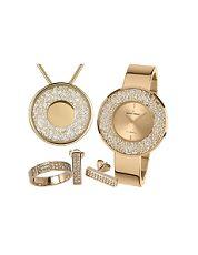 Uhren-Schmuck-Set - Jacques Lemans 1-2062C.1-SET56 - Quarz, Stahl IP Gold