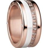 Damenring - BERING 520-30-X4_554-50-X1_556-37-X1 - Edelstahl Rosé vergoldet, Zir