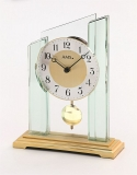 Tischuhr - AMS 1167 - Quarz, Glas/Metall