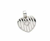 Anhänger - Gerry Eder 21.1125S - 925 Sterling Silber, Zirkonia, Herz