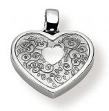Anhänger - Gerry Eder 21.9038 - 925/- Silber, ohne Stein, Herz